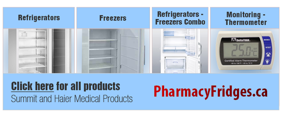 Pharmacy vaccine fridges freezer Canada